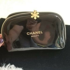 "Chanel Black Cosmetic Makeup bag ""Chanel Beaute"""